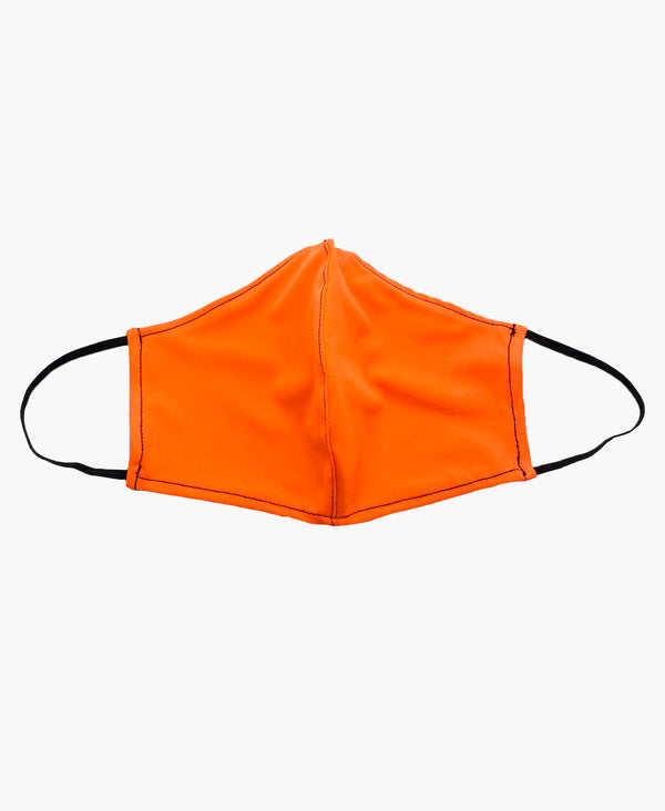 Neon Orange Black Soft Reversible Mask