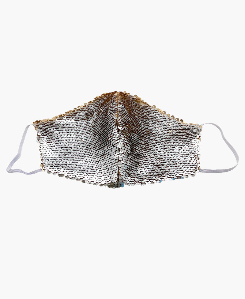 Silver Gold Sequin Mask