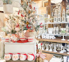 Create a winter wonderland with red, white - and snow