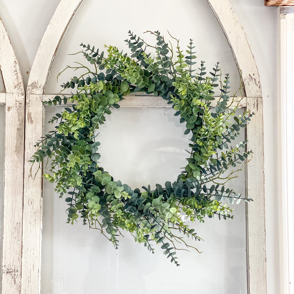 Forget the winter blahs with fresh faux greenery