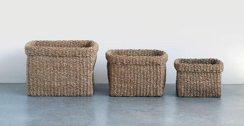 Flannery Natural Square Basket 3 Sizes