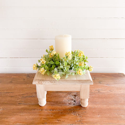 Spring Blossom Yellow Candle Ring