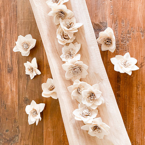Bag of Dried Bleached Flowers