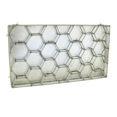Honeycomb Metal and Glass Wall Case