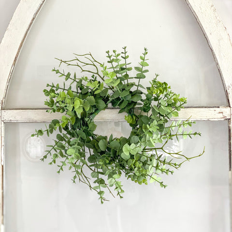 Spring Green Eucalyptus Mini Wreath