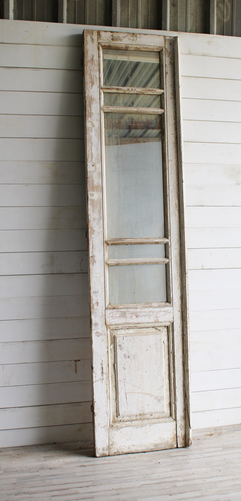 Camile Vintage White Painted Door with Mirror