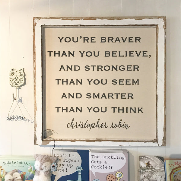 Christopher Robin Braver Farmhouse Window Frame