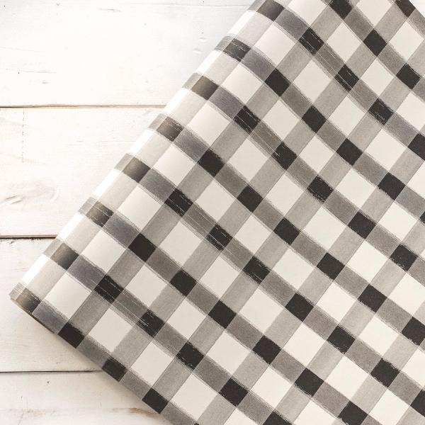 Painted Check Paper Table Runner
