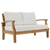 Casa 4 Piece Outdoor Patio Teak Set in Natural White
