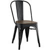 SIRA BLACK BAMBOO & STEEL DINING SIDE CHAIR