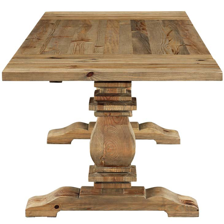 Quinn Extendable Pine Wood Dining Table