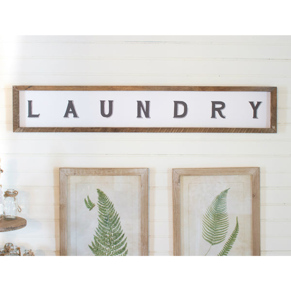 Reclaimed Wood Skinny Laundry Sign