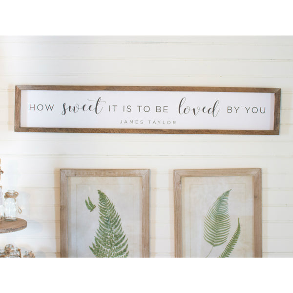 Reclaimed Wood Skinny How Sweet it is Sign
