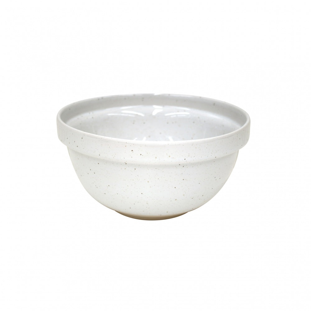 Farmhouse Collection Medium Stoneware Mixing Bowl White