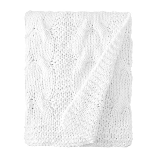 Presley Cable Knit Cotton Throw