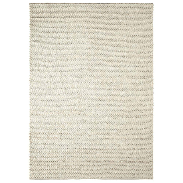 Pearl Ivory Braided Hand Loomed Rug