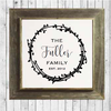 Personalized Family Sign with Rustic Wood w/ Frame Est Date