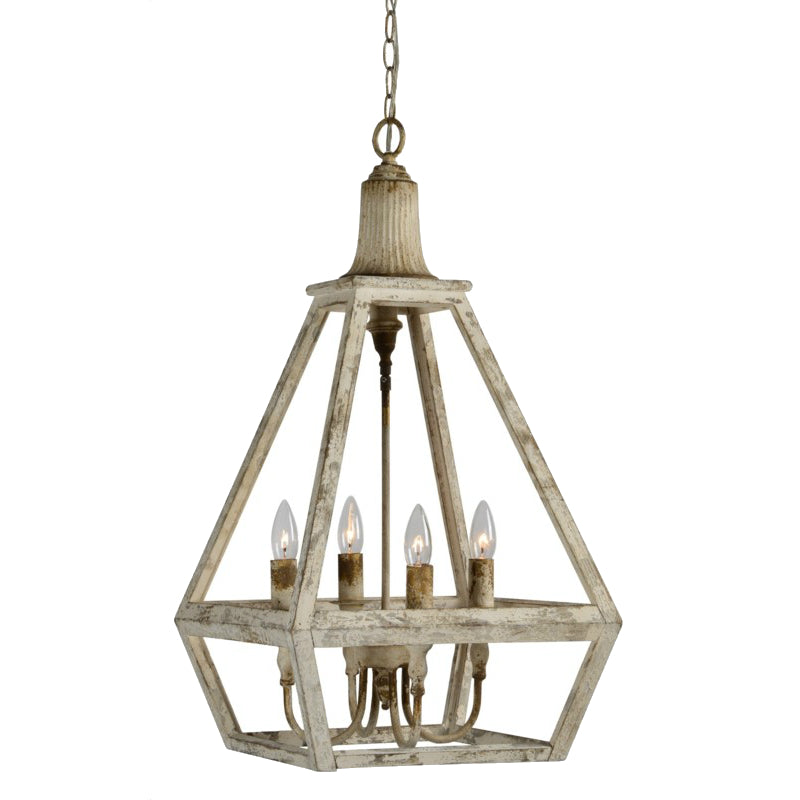 Callum 4 Light Wood Pendant