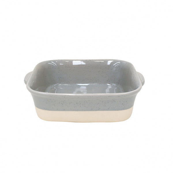Farmhouse Collection Stoneware Square Baker Grey