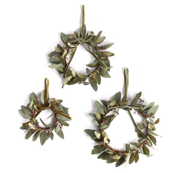 Mini Eucalyptus Wreaths in 3 Sizes