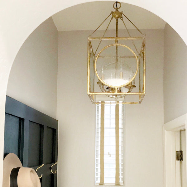 Bolton 4 Light Brass Pendant with Glass