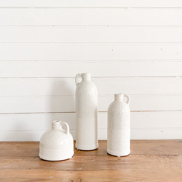 Echo Speckled Cream Ceramic Bottle Set