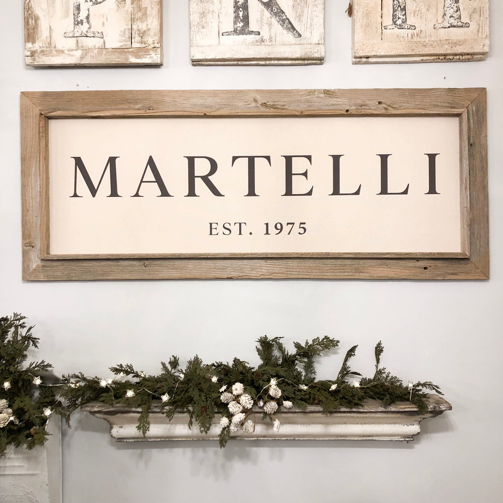 Personalized Family Sign Reclaimed Rectangular