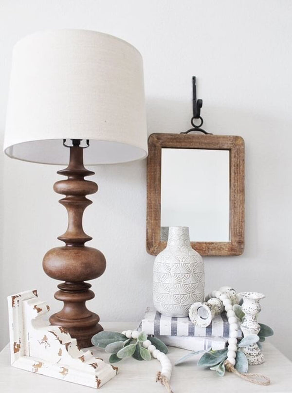 Kelsey Wood Hanging Mirror in 2 Sizes