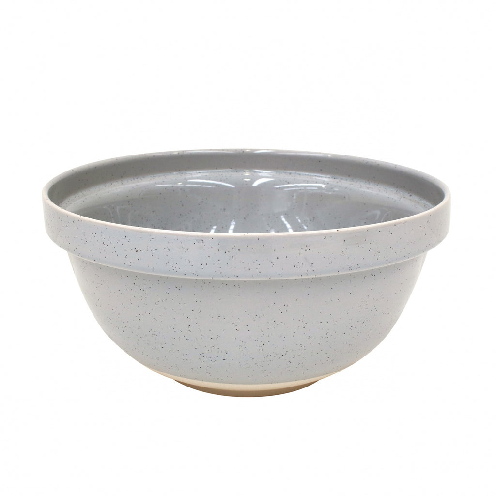 Farmhouse Collection Large Stoneware Mixing Bowl Grey