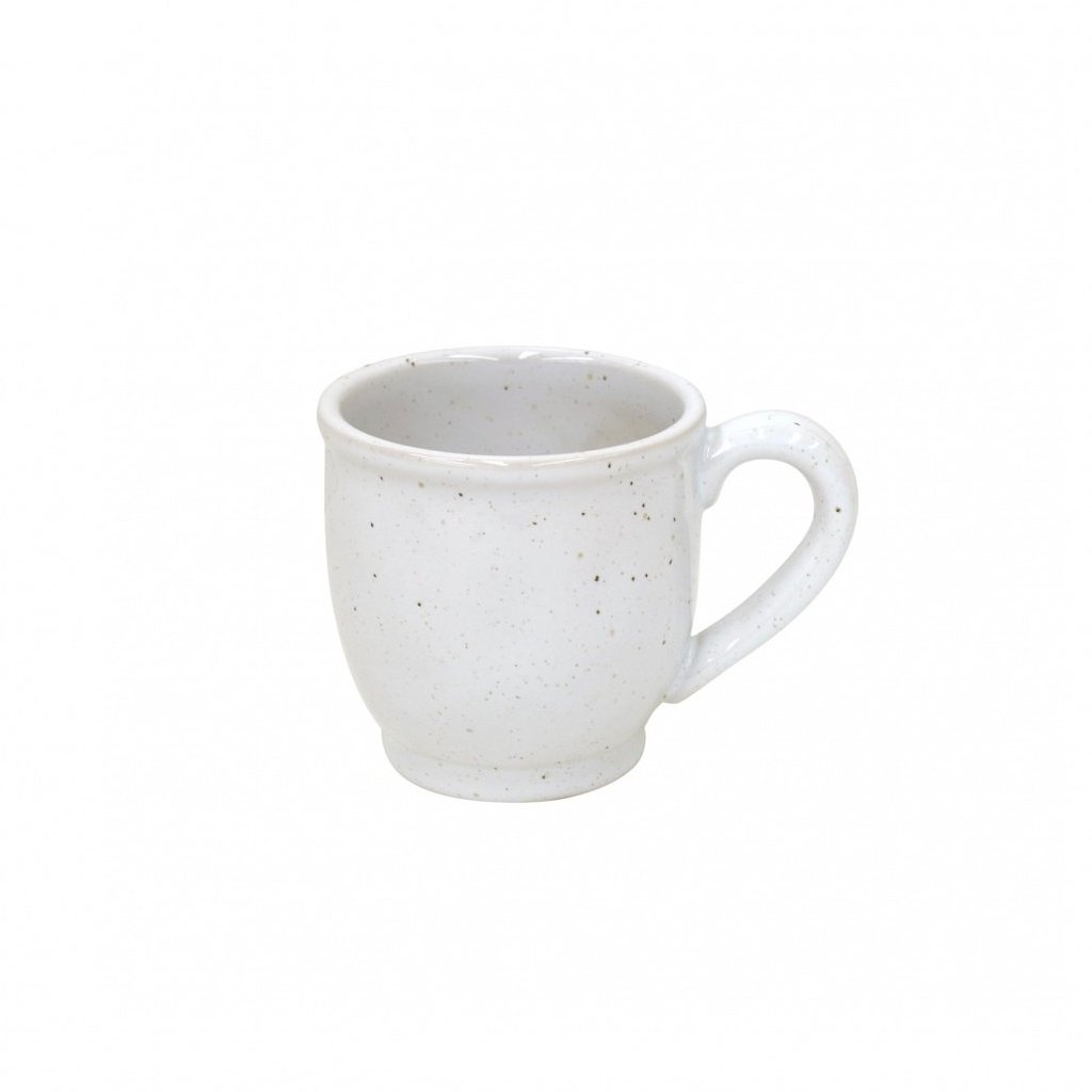 Farmhouse Collection Stoneware Mugs White Set of 6