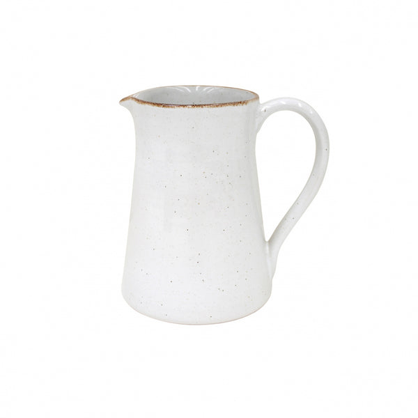 Farmhouse Collection Stoneware Pitcher White