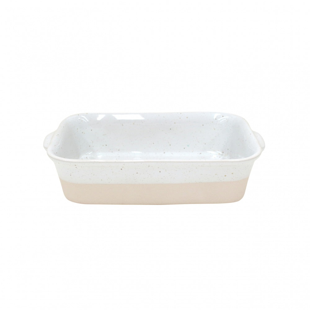 Farmhouse Collection Small Stoneware Rectangular Baker White