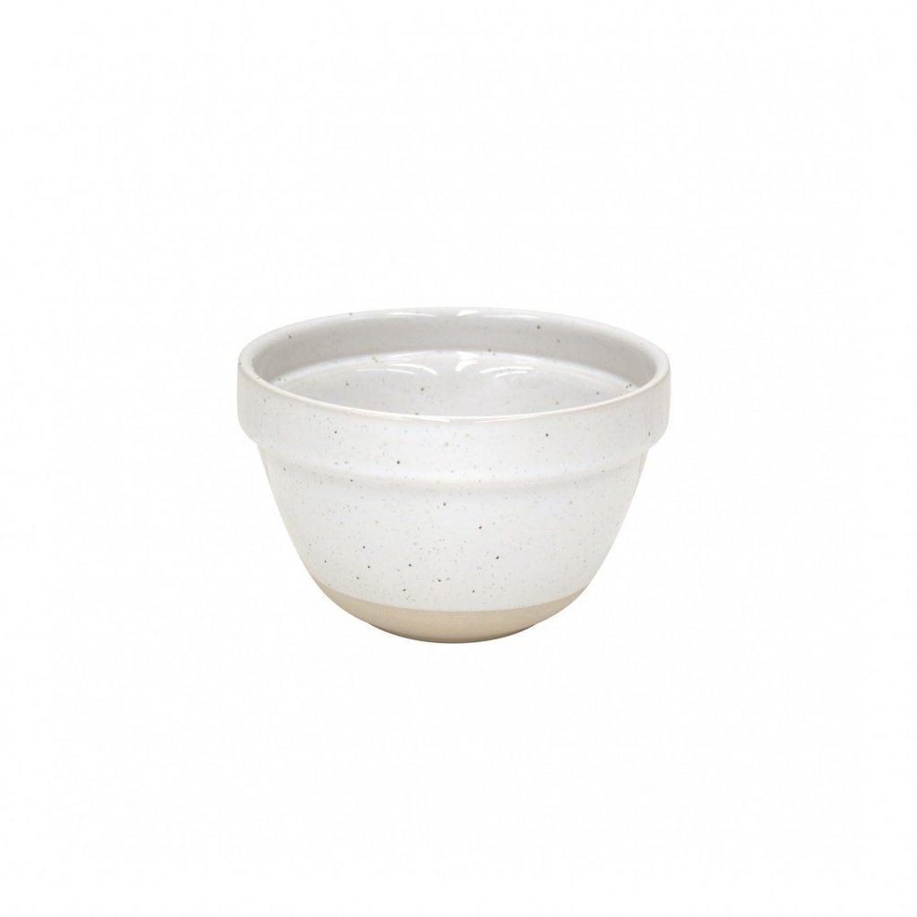 Farmhouse Collection Small Stoneware Mixing Bowl White