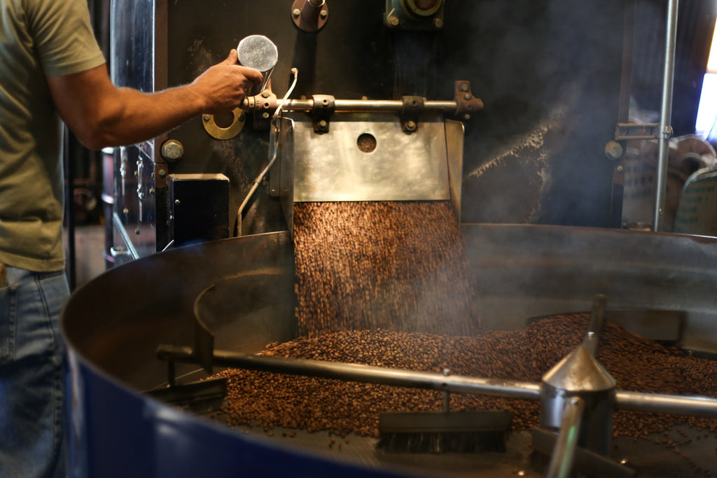 Coffee Roaster with beans