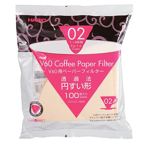 V60 Coffee Paper Filter Misarashi for 02 Dripper (100 Filters)