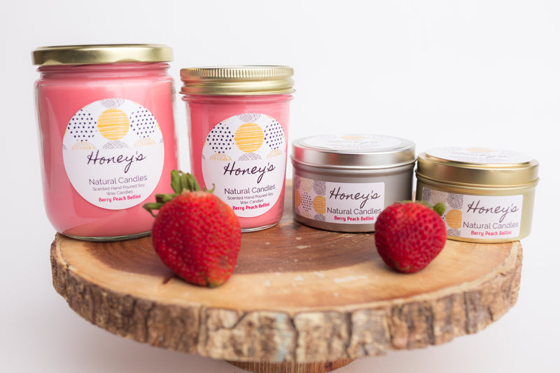 'Berry Peach Bellini' Scented Candle
