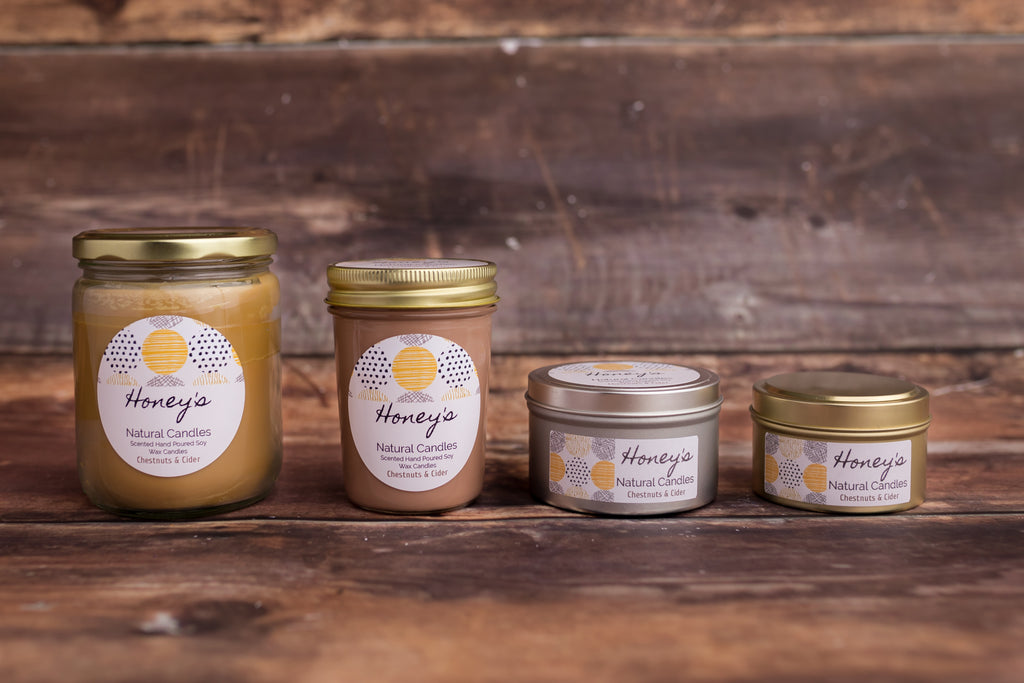 Chestnuts & Cider Candle - Honey's Natural Candles