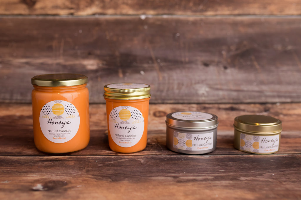 Peach Nectar Candle - Honey's Natural Candles