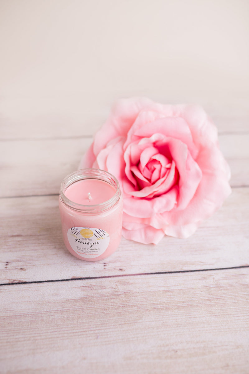 Raspberry Smoothie Candle - Honey's Natural Candles
