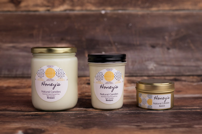 'Restore' Aromatherapy Candle - Honey's Natural Candles
