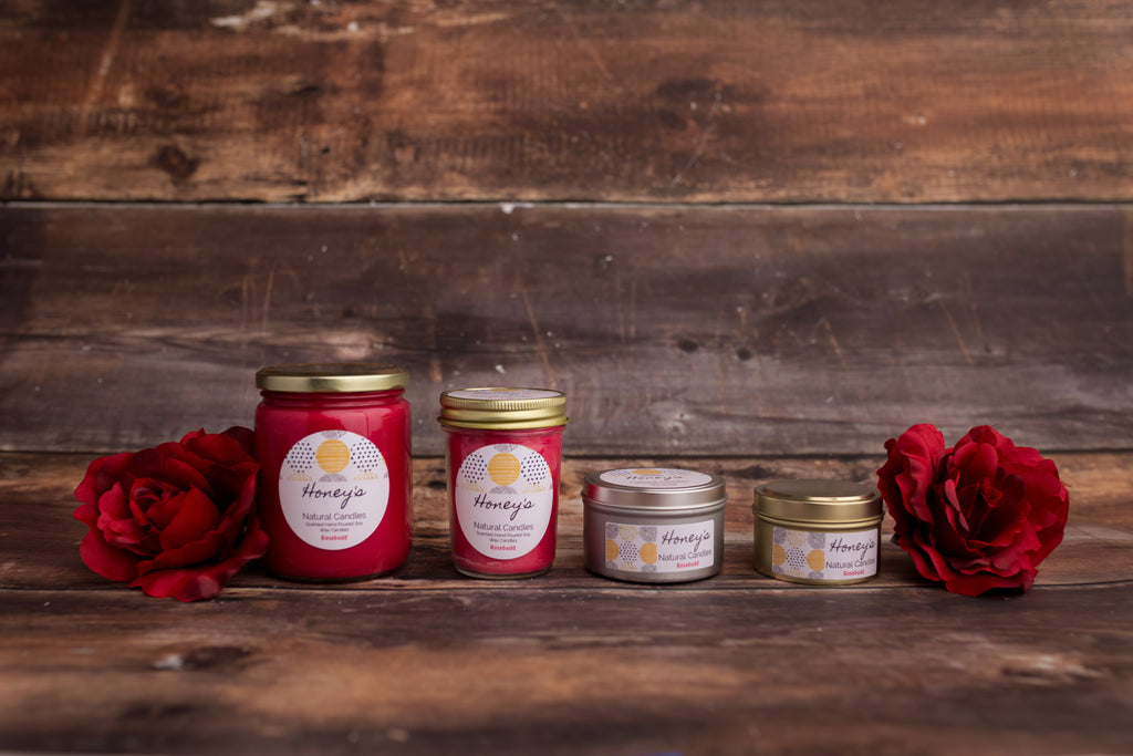 Rosebudd Candle - Honey's Natural Candles