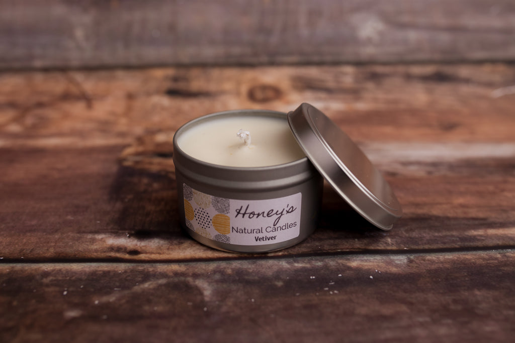Vetiver Aromatherapy Candle - Honey's Natural Candles