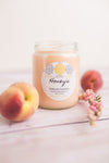 White Peach Bellini Candle - Honey's Natural Candles