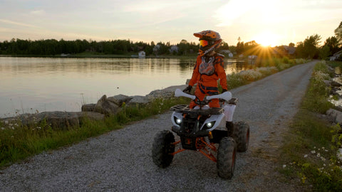 Venom e-grizzly electric atv for adults big electric 4 wheeler