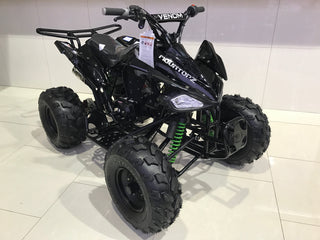"Venom 125cc Sport ATV Quad Four-Wheeler - 8"" TIRES - Semi Automatic"