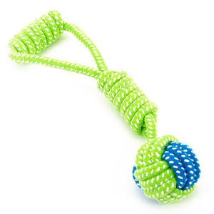 Dog Toy  Cotton Rope Knot  Ball - Red / S
