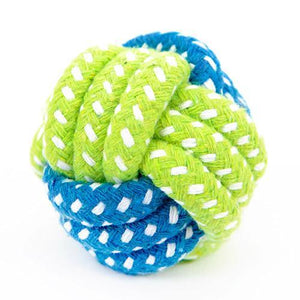Dog Toy  Cotton Rope Knot  Ball - Gold / S
