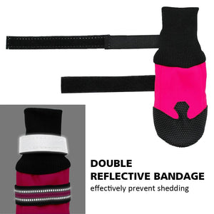 keep your dog paws protected and your dog safe with theses reflective water proof doggy dog socks, protect your dogs feet with theses dog boots, which are none slip dog shoes