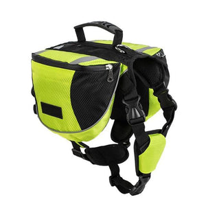 Dog Backpack Pet Saddlebag Vest Harness Hound Hiking Gear,Reflective Safety ... EFFICIENT LOAD CARRYING---2-main side Pocket bags with 1 pouch each side can ... Pawaboo Dog Backpack, Pet Adjustable Saddle Bag Harness Carrier, ... Dog Harness Backpack Saddle Bag for Medium Large Dogs Travel Camping