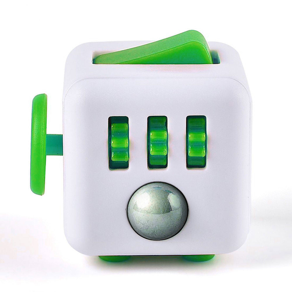 Fidget Cube - White & Green
